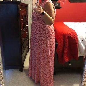 Michael Kors Dresses - Michael Kors maxi dress in floral tangerine 3X